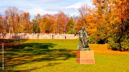 Slika na platnu A monument to the Roman Emperor Nerva in Catherine park, Tsarskoe Selo, Russia
