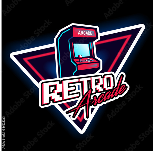 Foto Retro arcade game vintage 80's design