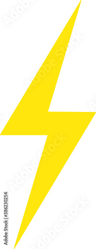 Lightning bolt expertise flat icon for apps and websites Wall mural