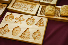 A Wooden Mold For Baking Cakes