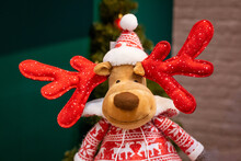 Soft Toy Christmas Deer Close Up