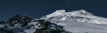 Panorama Of Easton Glacier On The South Side Of Mount Baker