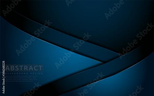 Fotografia, Obraz Dark navy blue background with modern abstract shape.