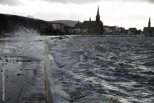 Largs is a town on the Firth of Clyde in North Ayrshire, Scotland, A popular sea Canvas Print
