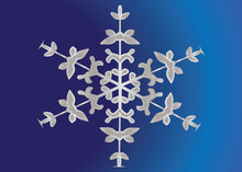 Snow Flakes For Christmas Ornament And Decoration