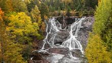 Eagle River Falls Near Eagle River City, Keweenaw Peninsula In Michigan Upper Peninsula.