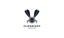 Animal Insect Flies Robot Logo Vector Icon Illustration Design