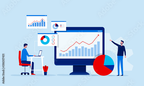 Canvastavla business people team analytics and monitoring on web report dashboard monitor co