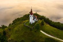 Sebrelje, Slovenia - Aerial Dr...