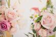 Leinwandbild Motiv Nature of rose pink flower in garden using as background natural wallpaper