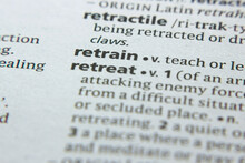 Word Or Phrase Retrain In A Dictionary.