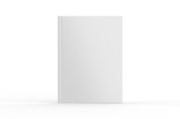 Hardcover canvas book mock-Up on isolated white background, ready for design presentation, 3d illustration