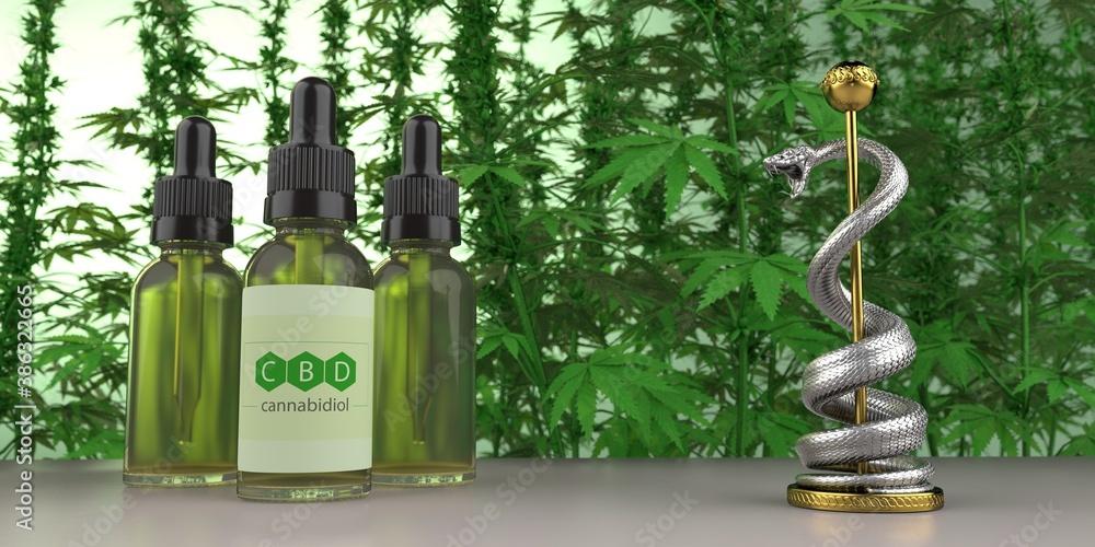 Fototapeta CBD Öl Medizin
