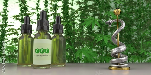 Obraz CBD Öl Medizin - fototapety do salonu