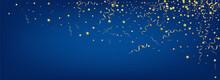 Golden Serpentine Swirl Vector Panoramic Blue