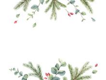Watercolor Vector Christmas Ca...