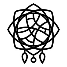 Home Dream Catcher Icon. Outline Home Dream Catcher Vector Icon For Web Design Isolated On White Background