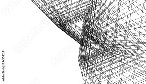 abstract architecture background 3d rendered illustration Fototapeta