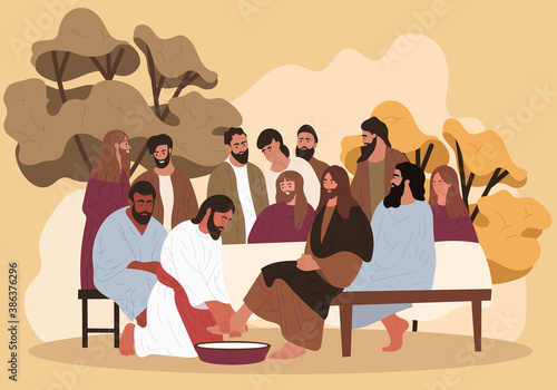 Biblical scene Fototapete