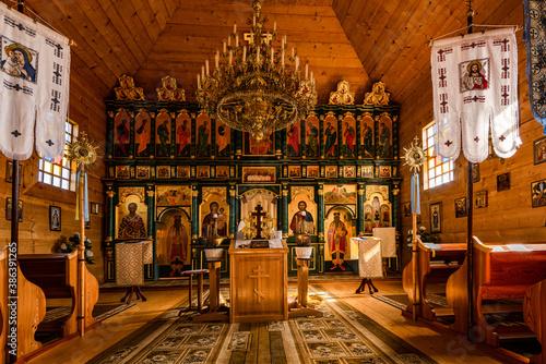 Interior of Komancza Orthodox Church in Poland.