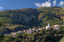 A Small Village In The Mountains Of The North Of Corsica - San Petru Di Tenda