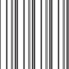 Black and White Stripe seamless pattern background in vertical style