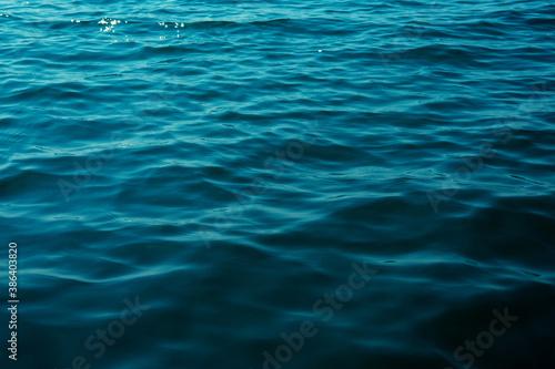 Blue sea water background texture Fototapet
