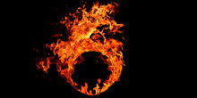 Realistic Fire Stock Image In ...