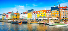 Wide Panoramic View Of Nyhavn ...