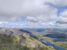 View/ Landscape From The Top Of Mount Snowdon.