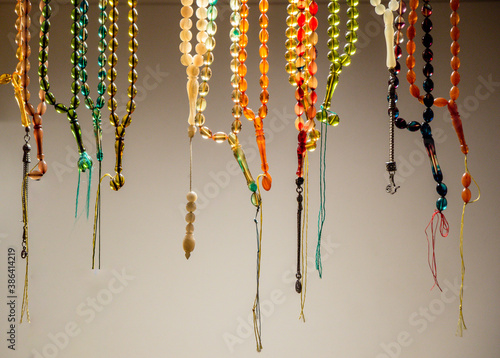 Fotografija Set of rosary praying beads of for meditation and praying