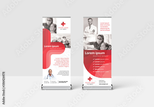 Obraz Medical Roll Up Banner for Hospitals and Doctors - fototapety do salonu