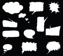 Vector Image Of Set Various Drawn Speech Bubbles