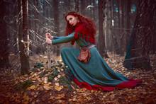 Beautiful Queen Warrior Woman