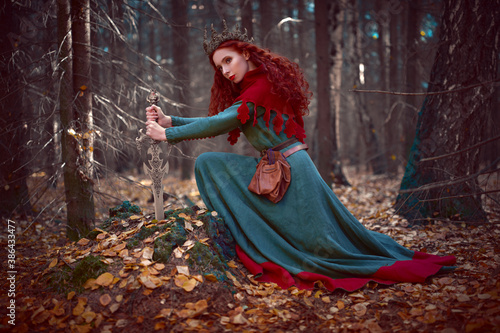 Canvas Print beautiful queen warrior woman