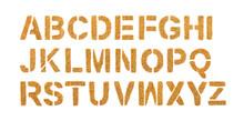 Golden Alphabet Made Of Glitte...