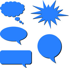 Call Out Speech Bubble Shapes