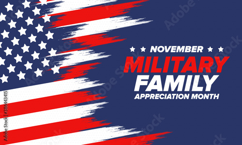 National Military Family Month in United States Wallpaper Mural