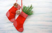 Christmas Sock. New Year Greet...