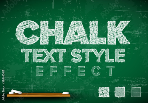 Chalk Editable Text Effect with Blackboard Background