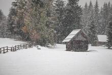 Heavy Snowfall In Mountain Vil...