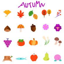秋のイラストアイコン...