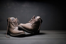 Men's Winter Boots Gray And Bl...