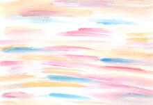 Striped Watercolor Hand Drawn ...