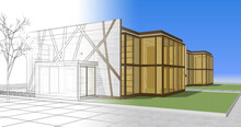 House Architectural Sketch 3d ...