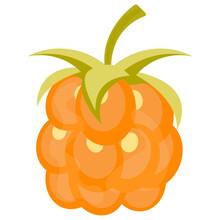 Icon Of Fresh Golden  Fruit Depicting Golden Raspberry