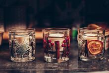 Christmas Gel Candles Orange, ...