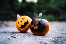 Calabazas De Halloween En Cami...
