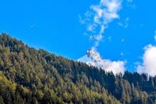 "Paragliders With ""aiguille De Midi"" Mountain"