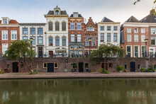 Traditional Dutch Houses, Streets And Bridges Utrecht